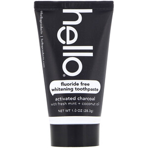 Hello, Fluoride Free Whitening Toothpaste, Activated Charcoal, With Fresh Mint & Coconut Oil, 1.0 oz (28.3 g) отзывы