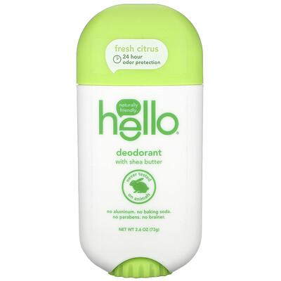 Hello Deodorant with Shea Butter, Fresh Citrus, 2.6 oz (73 g)