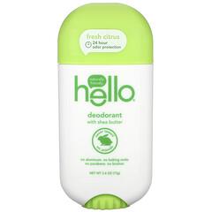 Hello, 淨味劑含乳木果油,新鮮柑橘,2.6 盎司(73 克)