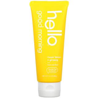 Hello, Good Morning, Fluoride Free Toothpaste, Meyer Lemon + Ginseng, 3.0 oz (85 g)