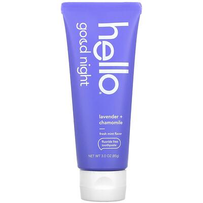 Купить Hello Good Night, Fluoride Free Toothpaste, Lavender + Chamomile, 3 oz (85 g)