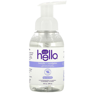 Hello, Foaming Hand Wash, Lavender + Eucalyptus, 10 fl oz (295 ml)