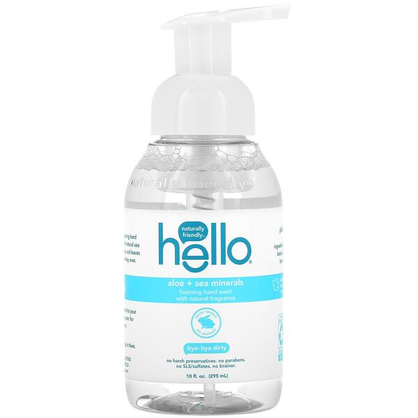 Foaming Hand Wash, Aloe + Sea Minerals, 10 fl oz (295 ml)