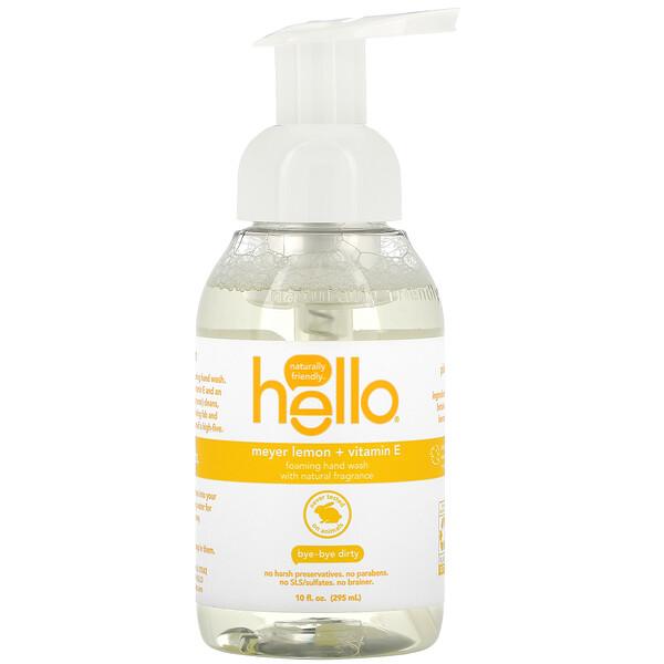 Foaming Hand Wash, Meyer Lemon + Vitamin E, 10 fl oz (295 ml)