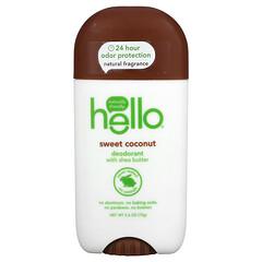 Hello, 淨味劑,含乳木果油、甜椰子,2.6 盎司(73 克)