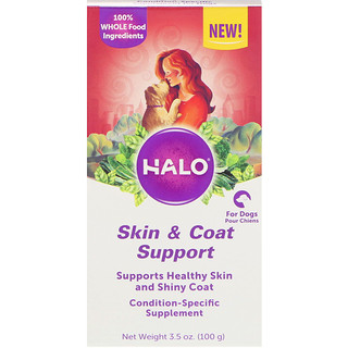 Halo, Skin & Coat Support, For Dogs, 3.5 oz (100 g)