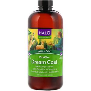 Halo, VitaGlo, Dream Coat, Skin & Coat, For Dogs & Cats, 16 fl oz (473 ml) отзывы