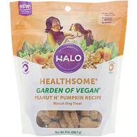 Healthsome, Garden of Vegan, Peanut N' Pumpkin Recipe, Biscuit Dog Treat,  8 oz (226.7 g) - фото