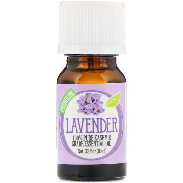 Healing Solutions, 100% Pure Kashmir Grade Essential Oil, Lavender, 0.33 fl oz (10 ml) (Discontinued Item)