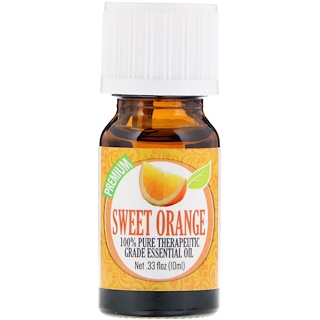 Healing Solutions, 100% Pure Therapeutic Grade Essential Oil, Sweet Orange, 0.33 fl oz (10 ml)