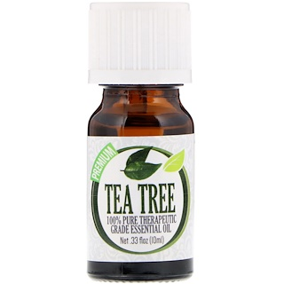 Healing Solutions, 100% Pure Therapeutic Grade Essential Oil, Tea Tree, 0.33 fl oz (10 ml)