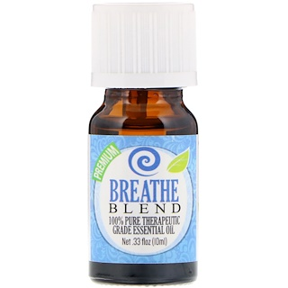 Healing Solutions, 100% Pure Therapeutic Grade Essential Oil, Breathe Blend, 0.33 fl oz (10 ml)