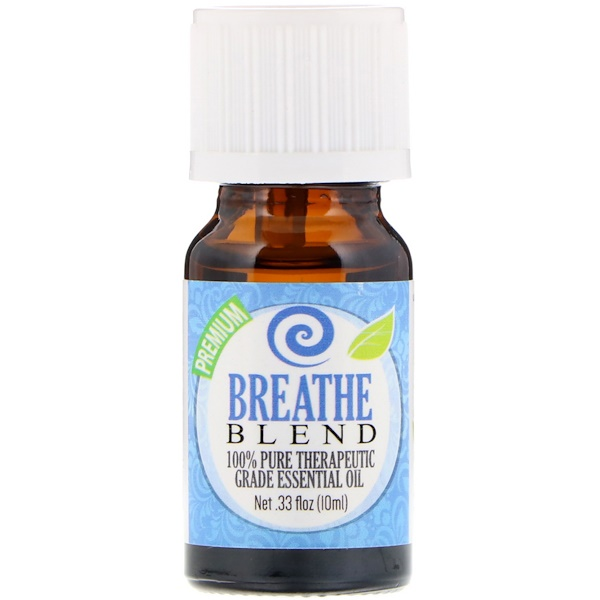 Healing Solutions, 100% Pure Therapeutic Grade Essential Oil, Breathe Blend, 0.33 fl oz (10 ml) (Discontinued Item)