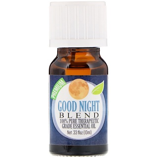 Healing Solutions, 100% Pure Therapeutic Grade Essential Oil, Good Night Blend, 0.33 fl oz (10 ml)