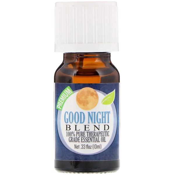 Healing Solutions, 100% Pure Therapeutic Grade Essential Oil, Good Night Blend, 0.33 fl oz (10 ml) (Discontinued Item)