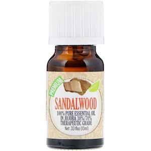 Healing Solutions, 100% Pure Essential Oil, Sandalwood, 0.33 fl oz (10 ml) отзывы