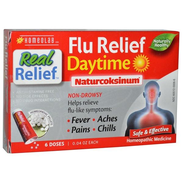Homeolab USA, Naturcoksinum, Flu Relief, Daytime, 6 Doses, 0.04 oz Each (Discontinued Item)