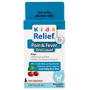 Homeolab USA, Kids Relief, Pain & Fever for Kids, Cherry Flavor, 0.85 fl oz (25 ml)