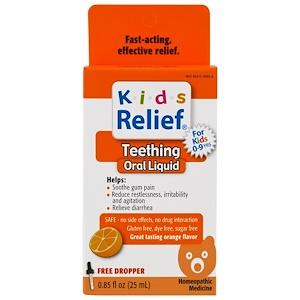 Хомеолаб ЮСА, Kids Relief, Teething, Orange Flavor, 0.85 fl oz (25 ml) отзывы покупателей