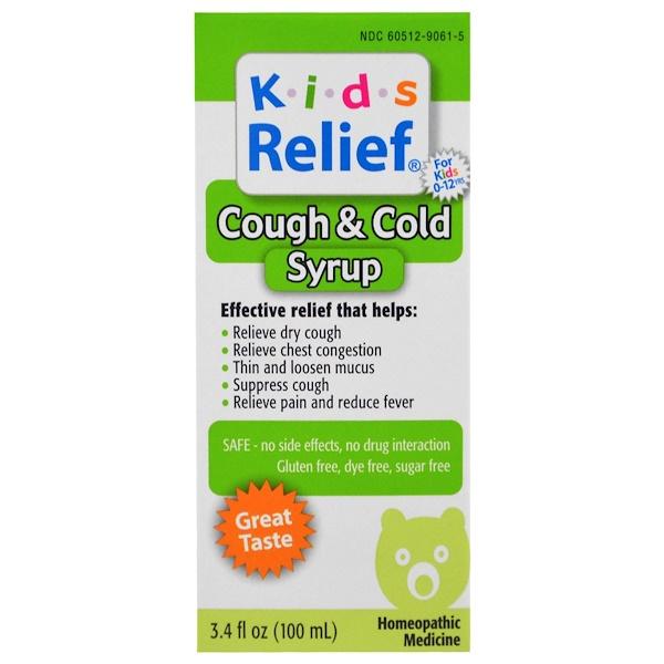 Homeolab USA, Alívio para Crianças, Tosse & Resfriado, Para Crianças Acima de 2 Anos, 3.4 oz (100 ml)