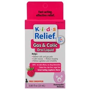 Хомеолаб ЮСА, Kids Relief, Gas & Colic, Raspberry Flavor, 0.85 fl oz (25 ml) отзывы покупателей
