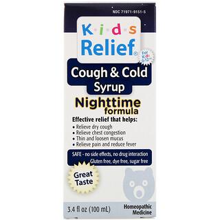 Homeolab USA, 儿童缓解,咳嗽缓解着凉糖浆,夜晚配方,用于 0-12 岁儿童,3.4 液量盎司(100 毫升)