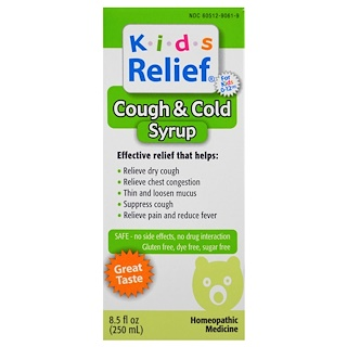 Homeolab USA, Kids Relief, Cough & Cold Syrup, 8.5 fl oz (250 ml)