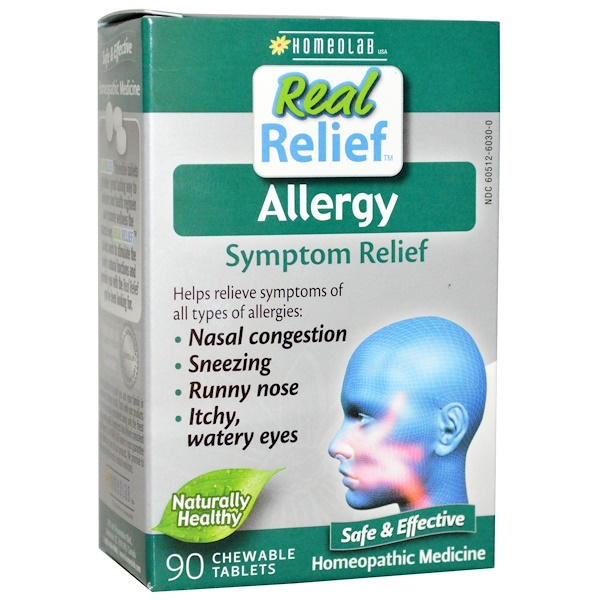 Homeolab USA, Allergy Relief, Symptom Relief, 90 Chewable Tablets (Discontinued Item)