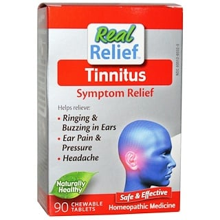 Homeolab USA, Tinnitus, Symptom Relief, 90 Chewable Tablets