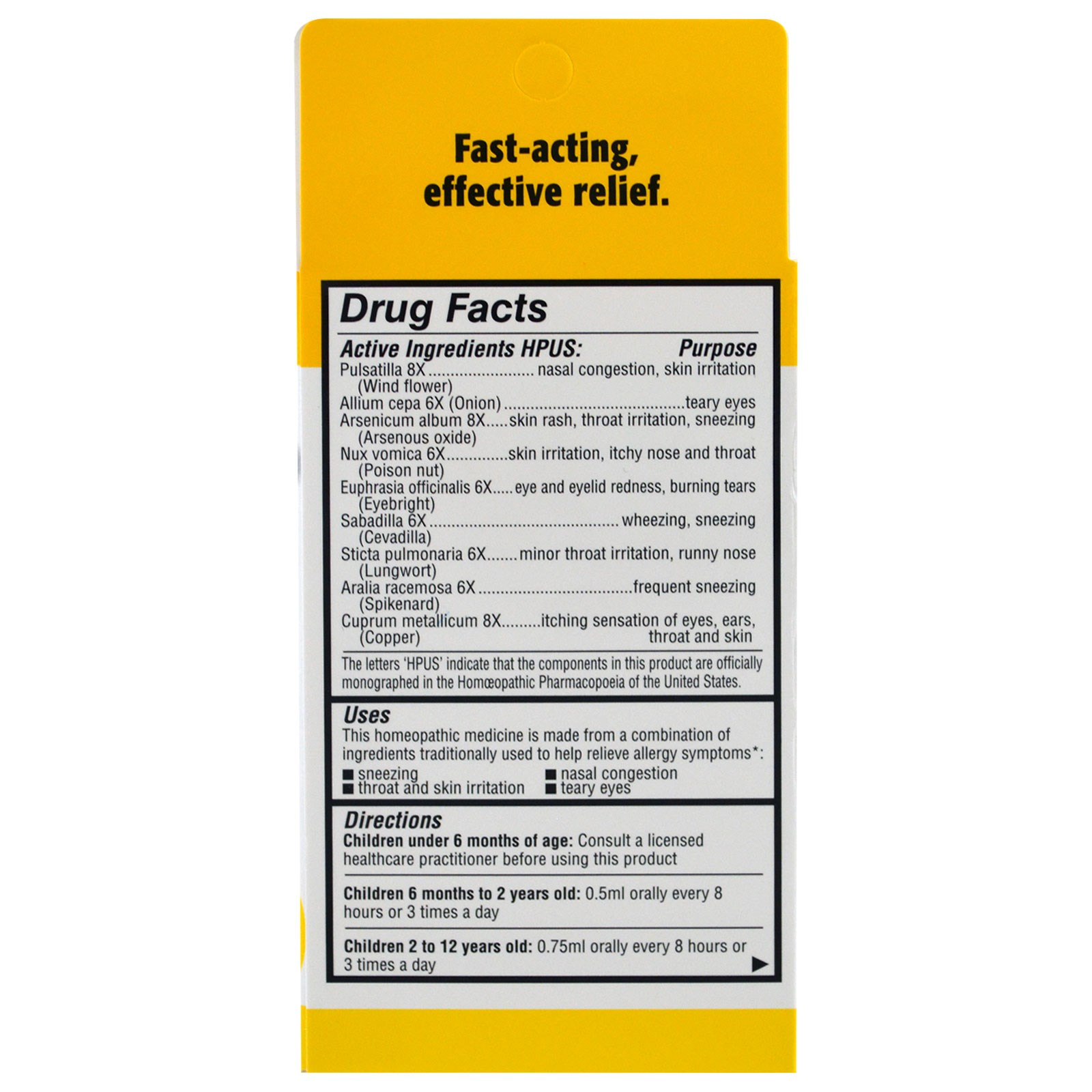 Homeolab USA, Kids Relief, Allergy for Kids, Banana Flavor, 0 85 fl