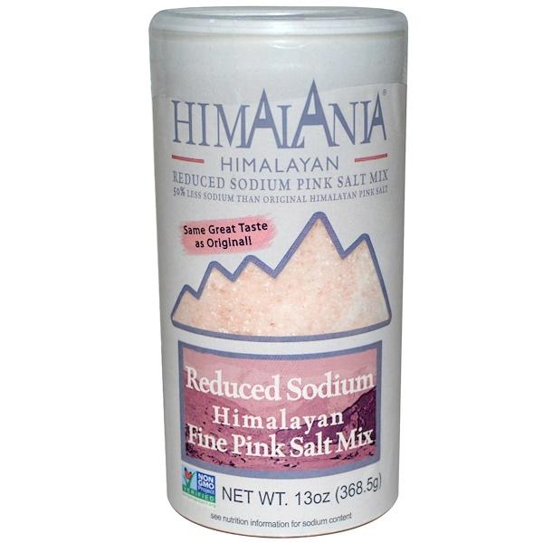 Himalania, Гималайская мелкая розовая соль со сниженным содержанием натрия, 368,5 г (13 унций) (Discontinued Item)