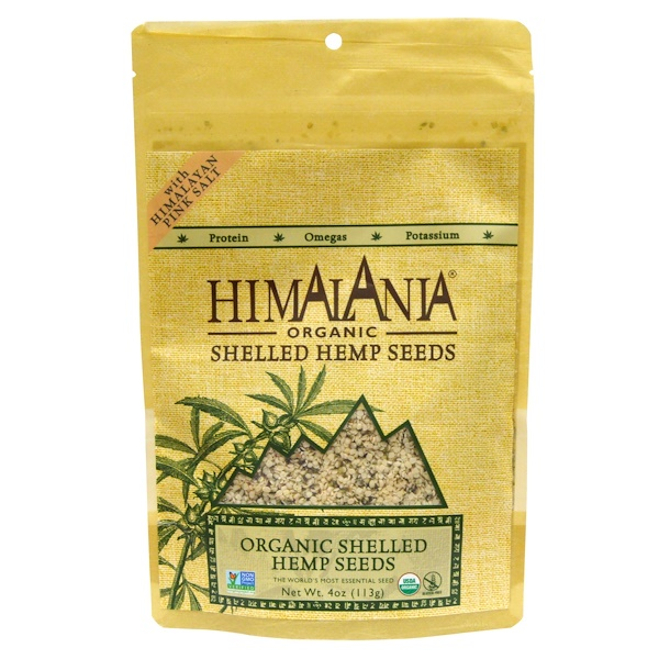 Himalania, Organic Shelled Hemp Seeds with Himalayan Pink Salt, 4 oz (113 g) (Discontinued Item)