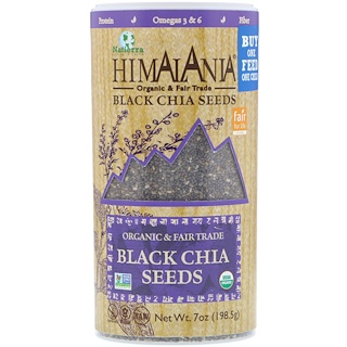 Himalania, Black Chia Seeds, 7 oz (198.5 g)