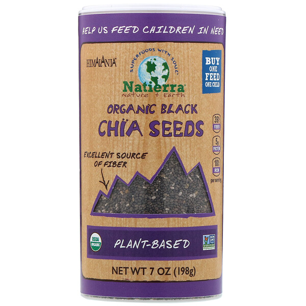Organic Black Chia Seeds, 7 oz (198 g)