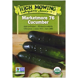 High Mowing Organic Seeds, Marketmore 76 Cucumber, 1/16 Ounce