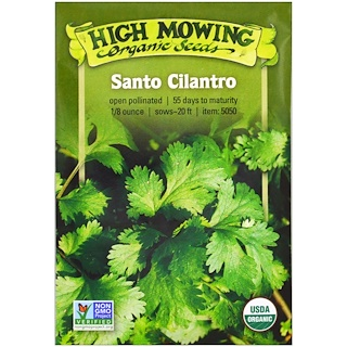 High Mowing Organic Seeds, Santo Cilantro, 1/8 Ounce