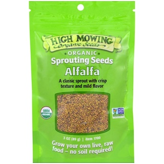 High Mowing Organic Seeds, Alfalfa, 3 oz (89 g)
