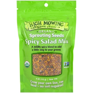 High Mowing Organic Seeds, Spicy Salad Mix, 4 oz (113 g)