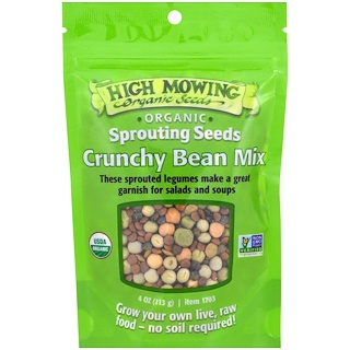 High Mowing Organic Seeds, Crunchy Bean Mix, 4 oz (113 g)