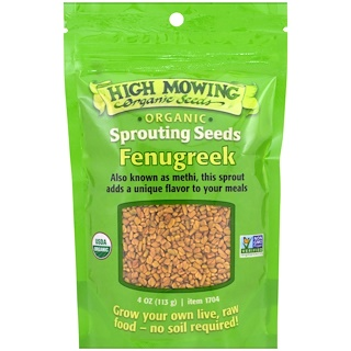High Mowing Organic Seeds, Fenugreek, 4 oz (113 g)