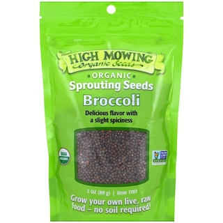High Mowing Organic Seeds, Broccoli, 3 oz (89 g)