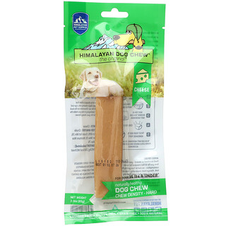 Himalayan Pet Supply, Himalayan Dog Chew, Hard, For Dogs 35 lbs & Under, Cheese, 2.3 oz (65 g)