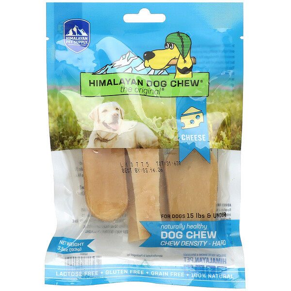 Himalayan Dog Chew, Hard, For Dogs 15 lbs & Under, Cheese, 3.3 oz (93 g)
