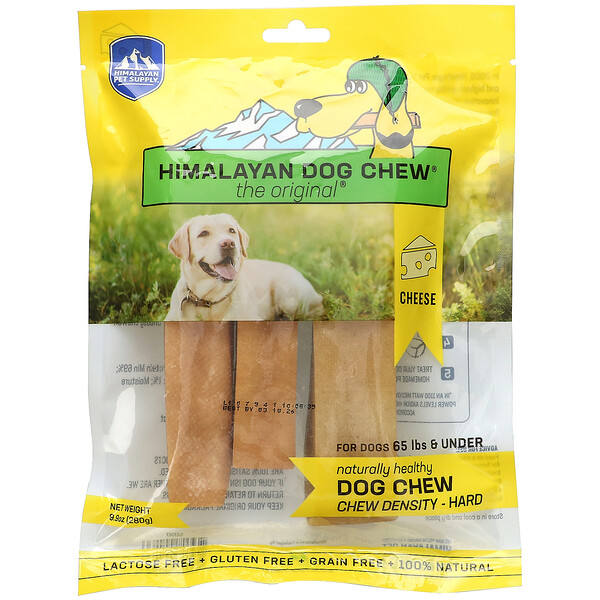 Himalayan Dog Chew, Hard, For Dogs 65 lbs & Under, Cheese, 9.9 oz (280 g)