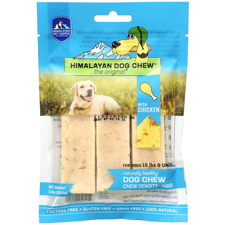 Himalayan Pet Supply, Himalayan Dog Chew, Hard, For Dogs 15 lbs & Under, Chicken, 3.3 oz (93.6 g)