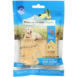 Himalayan Pet Supply, Himalayan Dog Chew, Hard, For Dogs 15 lbs & Under, Bacon, 3.3 oz (93.6 g)