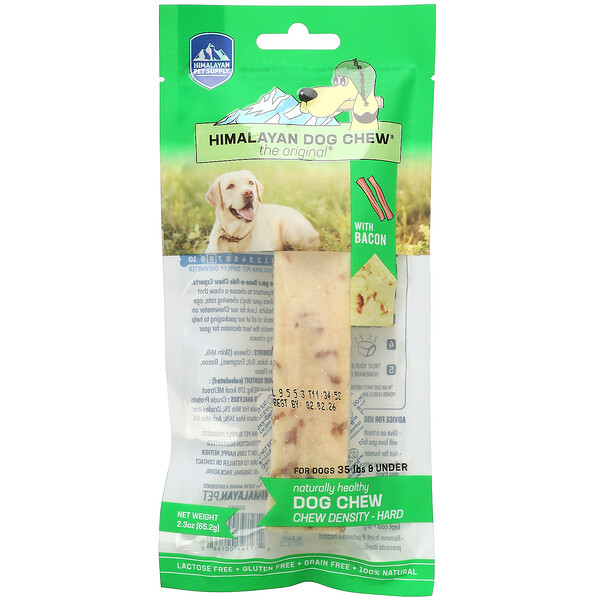 Himalayan Dog Chew, Hard, For Dogs 35 lbs & Under, Bacon, 2.3 oz (65.2 g)