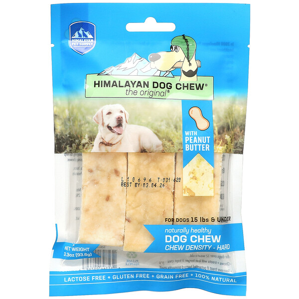 Himalayan Dog Chew, Hard, For Dogs 15 lbs & Under, Peanut Butter, 3.3 oz (93.6 g)