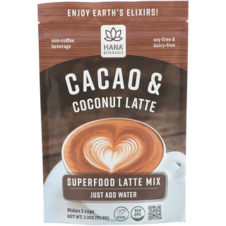 Какао и кокос латте