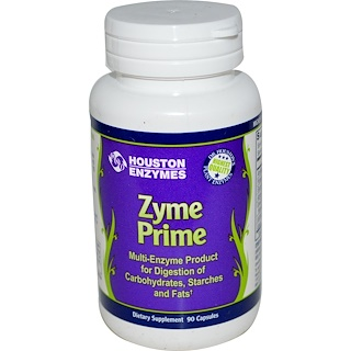 Houston Enzymes, Zyme Prime, Multi-Enzyme, 90 Capsules